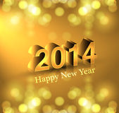 New Year 2014  reflection colorful stylish holiday Stock Images
