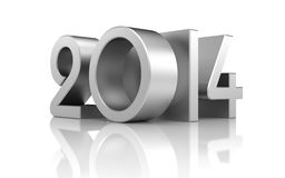 New year with reflection Royalty Free Stock Images