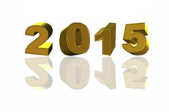 New Year 2015 and reflects, 3D model Stock Photo