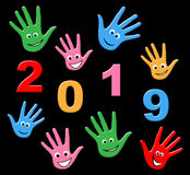New Year Represents Two Thousand Nineteen And Annual. New Year Meaning Two Thousand Nineteen And Celebrating Stock Image