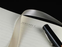 New Year Resolution-Capped Pen Royalty Free Stock Images