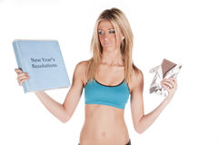 New year resolution chocolate Royalty Free Stock Images