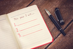 New Year Resolution, Empty list Stock Photography
