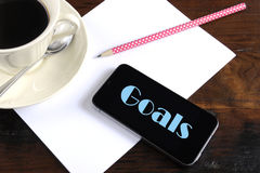 New Year Resolution or Goals Planning concept Stock Photos