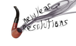 New year resolution pipe Royalty Free Stock Photography
