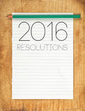 2016, New Year Resolutions Concept Stock Photos