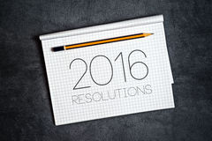 2016, New Year Resolutions Concept Royalty Free Stock Photos