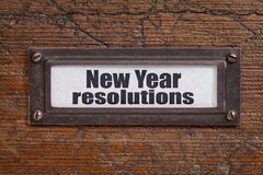 New Year resolutions Stock Photos
