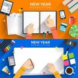 new year resolutions stock illustration