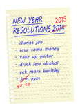 New Year Resolutions - list. Same again 2015. Royalty Free Stock Photos
