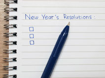 New year resolutions. 2015 new year's resolutions checklist Stock Images