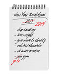 New year resolutions - same again 2014 Stock Photo