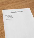 New year resolutions 2014 Stock Image