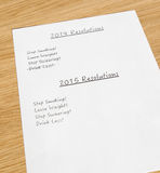 New year resolutions 2014 Royalty Free Stock Photo