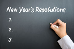 New Year resolutions Stock Photography