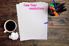 New year resolutions words Royalty Free Stock Image