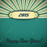 New Year 2015. Retro background with New Year's Eve 2015. Vector design Stock Image