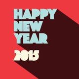 New Year 2015 Retro Illustration. Happy New Year 2015 Retro Illustration stock illustration