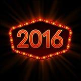 New Year Retro llight frame. Vector illustration. EPS10 stock illustration