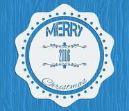 New year retro vintage badges, ribbons and labels Stock Photography