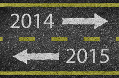 2015 New Year road and asphalt. Background texture with some fine grain in it of Royalty Free Stock Images