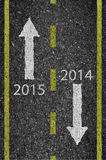 2015 New Year road and asphalt background texture with some fine Royalty Free Stock Photo
