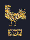 New-year-2017-rooster Foto de Stock Royalty Free