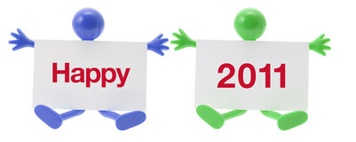 New Year and Rubber Figure Stock Image