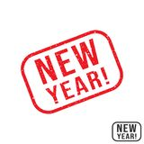 New Year rubber stamp with grunge texture design. Vector illustration stock illustration
