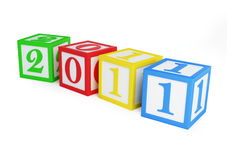 New year's 2011 alphabet Royalty Free Stock Images