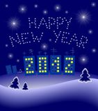 New Year's 2012 illustration Stock Images