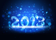 New year's 2013. New Year 2013 on a blue background Vector Illustration