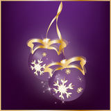 New Year`s abstract background with the Christmas balls.  Stock Photography
