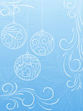New Year's background. New Year's background with snowflakes and balls Royalty Free Stock Images
