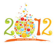 New year's background - 2012. Illustration -- New year's background 2012 Royalty Free Stock Images
