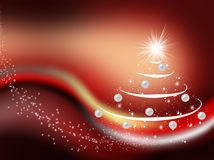 The New year's background. Decorate spruce on abstract background Royalty Free Stock Photos