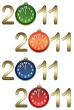 New year's background with clocks Royalty Free Stock Photos