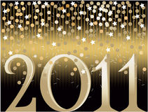 New Year's background with confetti. Gold New Year's background with confetti Royalty Free Stock Image