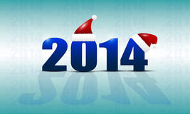 New Years background with the date 2014 and the ca Royalty Free Stock Image