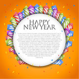 New Year's background with firework rockets. Vector New Year's background with firework rockets Stock Photos