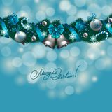 New Year's background - a garland of fir branches Royalty Free Stock Photography