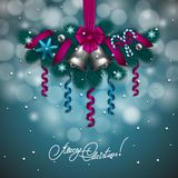 New Year's background - a garland of fir branches Stock Photography