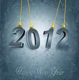 New Year's background with the numbers 2012. On the gray, luxury, vintage background Stock Photos