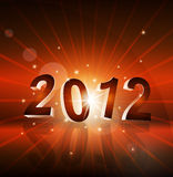 New Year's background with the numbers 2012. The New Year's background with the numbers 2012 Royalty Free Stock Photos