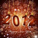 New Year's background with the numbers 2012. The  New Year's background with the numbers 2012 Royalty Free Stock Images