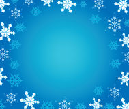 New Year's background with snowflakes. Stock Image