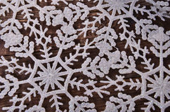 New Year`s background of snowflakes Stock Photography