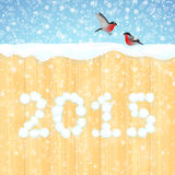 New Year's background 2015 Stock Photo