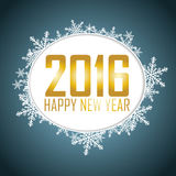 New Year's background with a speech bubble. Gold text, snowflake Royalty Free Stock Photography