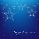 New Year's Background With Stars. Vector  Royalty Free Stock Photos